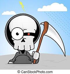 Creepy Cartoon Grim Reaper