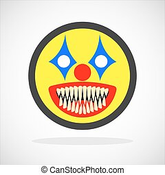 Creepy clown smiley