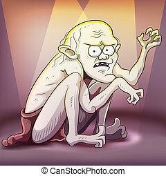Creepy Creature - cartoon illustration of creepy creature ...
