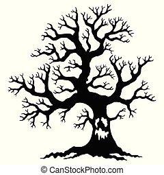 creepy dry tree