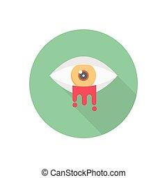 creepy  flat color icon