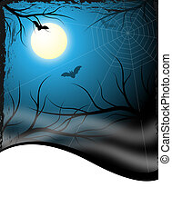 creepy halloween background design for flyer