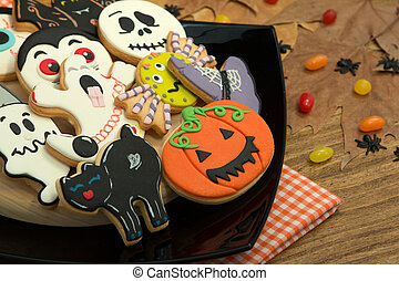 Creepy Halloween cookies and candies