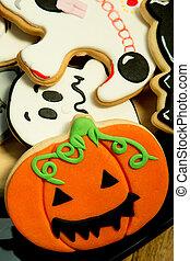 Creepy Halloween cookies