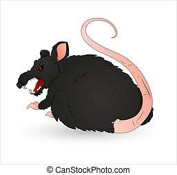 Creepy Rat Vector - Conceptual Design Art of Creepy Rat...