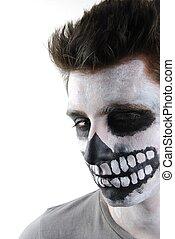 Creepy skeleton guy (Carnival face painting)