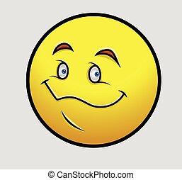 Creepy Smile Emoticon