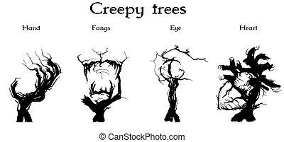 creepy trees set