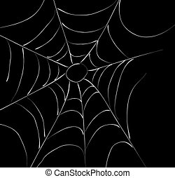 spiderweb on dark back ground