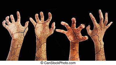 Creepy zombie hands