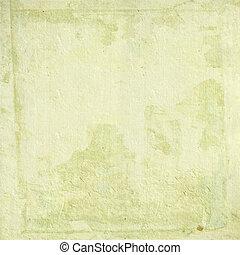 crema chiaro, carta fatta mano, con, grunge, cornice