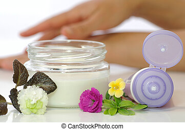 crema, cosmético, piel