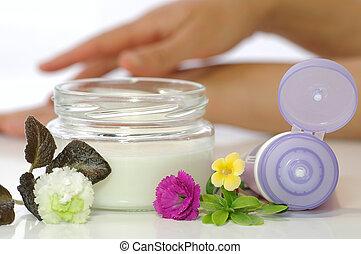 crema, cosmetico, pelle