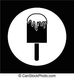 crema, ghiaccio, icona