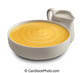 Crema pasticcera - Cream for patisserie with milk