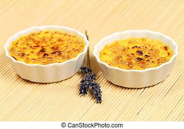 Creme brulee with lavender
