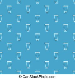 Creme tube pattern vector seamless blue repeat for any use