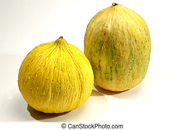exotic crenshaw and casaba melons