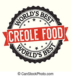 Creole food grunge rubber stamp