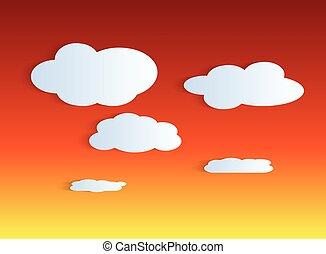 crepúsculo, céu, fundo, ilustração