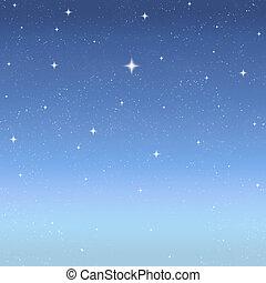 crepúsculo, estrellas