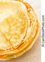 Crepes - Homemade crepes with fresh raspberries and ...