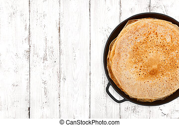 Crepes On Light Background