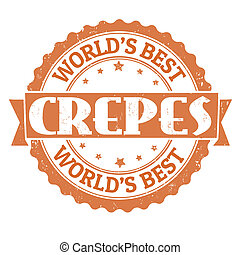 Crepes stamp - Crepes grunge rubber stamp on white, vector ...