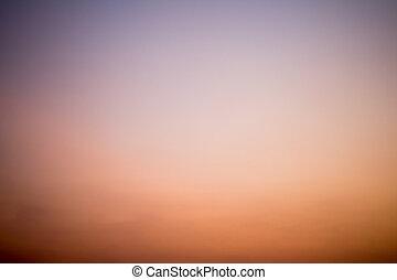 crepuscolo, cielo, colorito, fondo