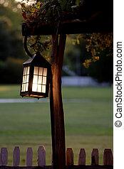 crepuscolo, lanterna