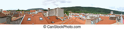 Cres Rooftops - Panorama of Town Cres Building Rooftops in ...