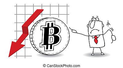 crescendo, baixo, bitcoin
