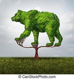 crescendo, mercado urso