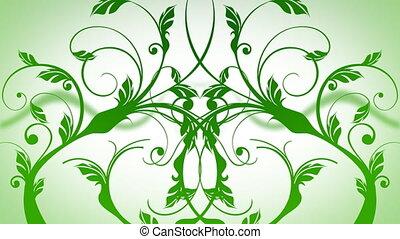 crescendo, videiras, em, verde branco, cores