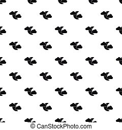 Crescent moon and clouds pattern, simple style