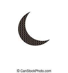 Crescent moon decorated with beautiful flowers on colourful background for Muslim community festival Jashn-E-Eid.