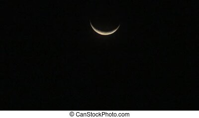 Crescent Moon During Nighttime