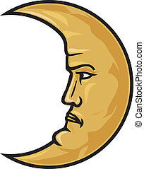 crescent moon face