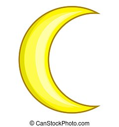 Crescent moon icon, cartoon style - Crescent moon icon....