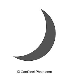 Crescent, moon, islamic icon vector image. Can also be used...