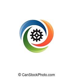 Crescent moon logo gear