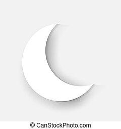 Crescent Moon Ramadan - Crescent White Moon Ramadan Kareem...