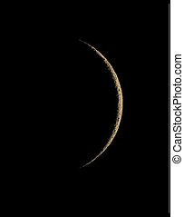 Crescent Moon - Waning crescent lunar phase.