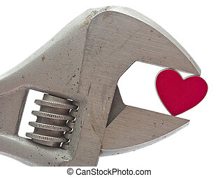 crescent wrench and heart