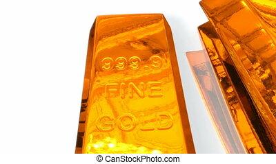crescente, grafico, di, barre verga oro