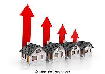crescente, reale, grafico, proprietà