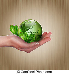 crescente, terra, pianta, verde