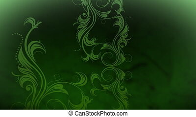 crescente, viti, in, verde, colore