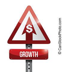 crescimento, desenho, ilustração, sinal