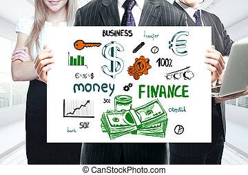 crescimento financeiro, conceito